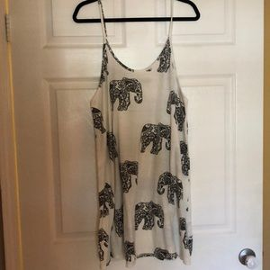 Missguided White tank dress with elephant print